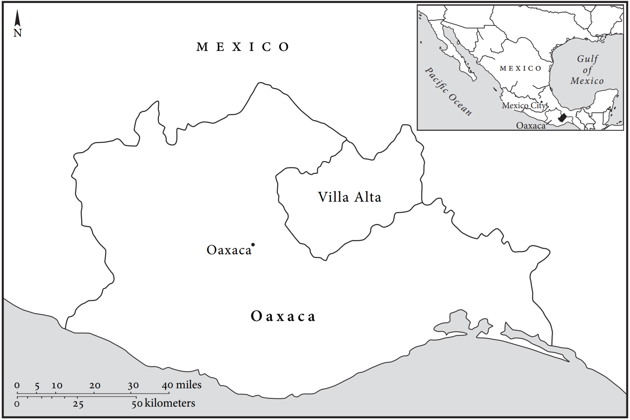 map 1 villa alta oaxaca mexico credit yanna yannakakis the art of being in between native intermediaries indian identity and local rule in colonial
